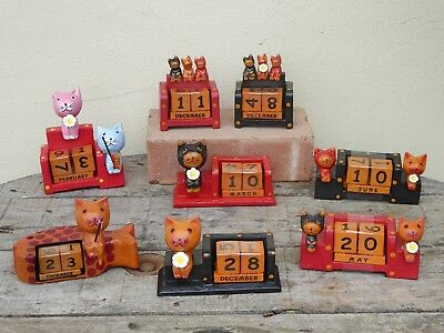 Wooden Hand Carved Perpetual Calendars..... • 7.99£