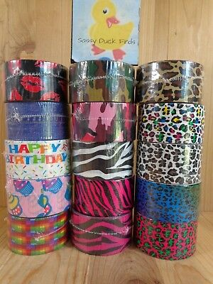 $3.99 • Buy Fashion Duct Tape ONE ROLL 10 Yards YOU PICK DESIGN Birthday Zebra Leopard Camo