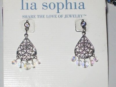 $ CDN20.29 • Buy Lia Sophia BLUE EVASION EARRINGS - LOTS OF SPARKLE - GORGEOUS AURORA BOREALIS