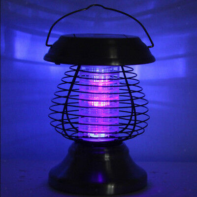 £9.35 • Buy Solar Powered UV LED Mosquito Killer Fly Bug Insect Zapper Trap Catcher Lamp