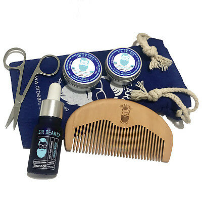 Dr Beard Grooming Organic 6 Piece Beard Growth Kit  -  12 Scents To Choose From! • 12.99£
