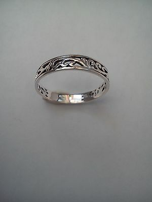 Celtic Silver Ring Thumb Finger 925 Sterling Silver Ladies Ring Various Sizes !! • 11.99£