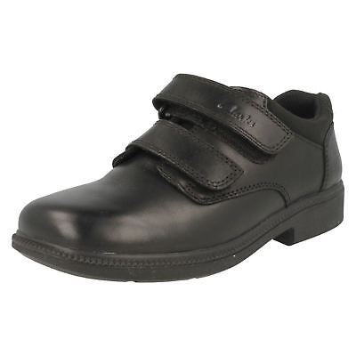 Boys Clarks Leather School Shoes *Deaton* • 25£