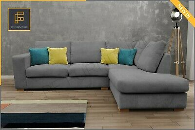 Corner Sofa Melody Westpoint Grey Fabric Brand New • 659£
