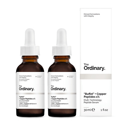 View Details NEW The Ordinary  Buffet  + Copper Peptides 1% [Double Pack] 2 X 30ml Womens • 78.85AU