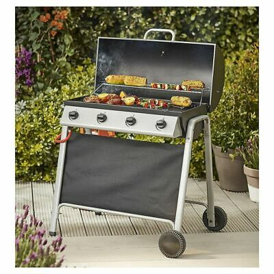 View Details Tesco Barrel 4 Burner Gas Barbecue With Cover &Thermometer BBQ • 75.00£
