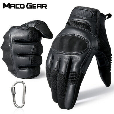 $20.99 • Buy Touch Screen Leather Driving Motorcycle Tactical Military Full Finger Gloves US