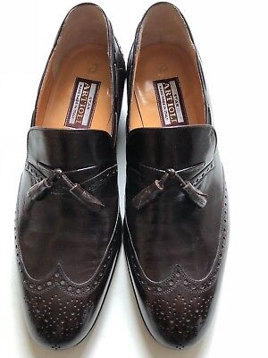 $ CDN119.14 • Buy Men Star Artioli Brown Leather Loafers Shoes Sz 8 W/ Bally Shoes Bag Barneys Jil