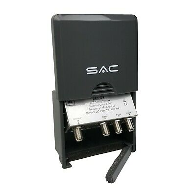 3 Way LTE Masthead Outdoor Splitter DC Pass TV Aerial SAC AE5023 • 14.89£