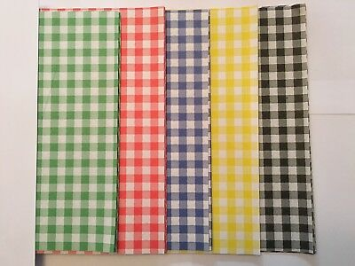£6.99 • Buy MIX ALL Gingham Duplex Paper Food Wrap Greaseproof Chip Basket Liners 250x375mm