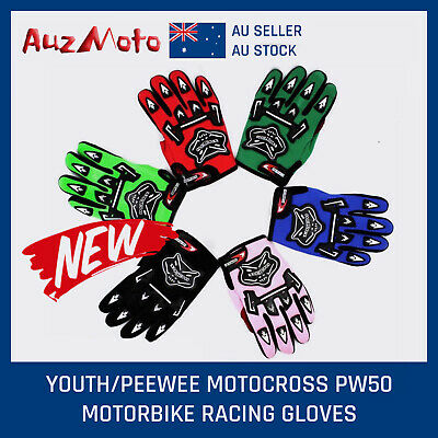 AU10.99 • Buy Au Youth/kids Boy Mx Motocross Motorbike Racing Gloves Bmx/atv/quad/dirt Bike