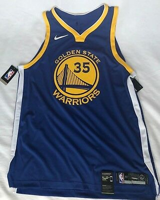 54d58646e91 NIKE KEVIN DURANT ICON EDITION AUTHENTIC GOLDEN STATE WARRIORS JERSEY Sz L  & 2XL • 103.99