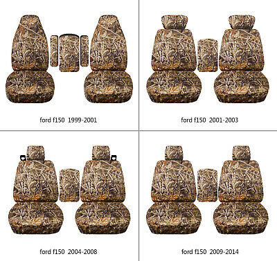 $89.99 • Buy Fits Ford F150 1999-2014 Car Seat Covers Camo Wetland Fr Bucket Seats+lid Cover