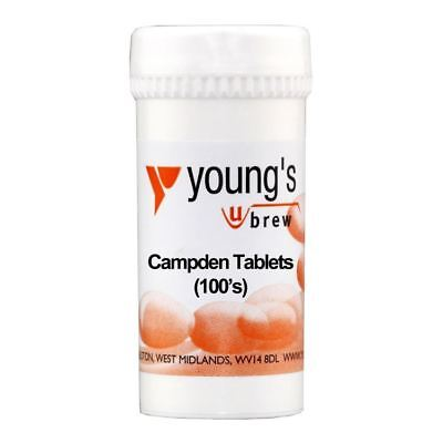 £7.99 • Buy YOUNG'S 100 X Campden Tablets - Wine Making Preserve Sterilise Brewing Home Brew