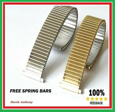 £8.95 • Buy THE BEST 17mm- 22mm GOLD/STAINLESS STEEL Expanding Expander WATCH Bracelet Strap