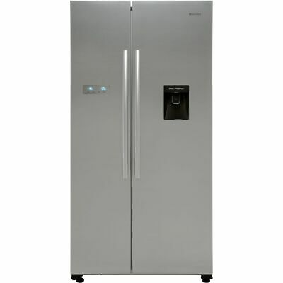View Details Hisense RS741N4WC11 91cm Frost Free American Fridge Freezer Stainless Steel • 549.00£