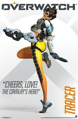 AU13.45 • Buy OVERWATCH - TRACER CHEERS POSTER - 22x34 - VIDEO GAME 16690