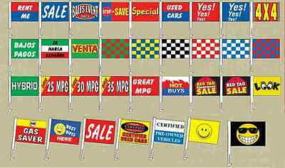Car Dealer Window Clip On Flags, (12 Pack), Auto Dealer Window Flags • 45.82£