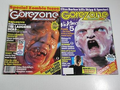 $22.95 • Buy Gore Zone Magazine Issues #9 & 10 Horror Movie; Posters Included Freddy Krueger