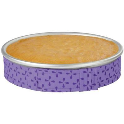 WILTON BAKE-EVEN STRIPS Set PURPLE - Bake Moist Level Cakes Every Time< C4T6 • 2.83£