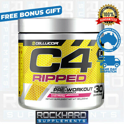 AU49.90 • Buy Cellucor C4 Ripped - Fat Metabolizer Pre Workout 30 Serves C4 Gen 4 Thermogenic