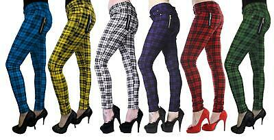 £23.99 • Buy Banned Checked Jeans /  Alternative Punk Rock Skinny Jeans