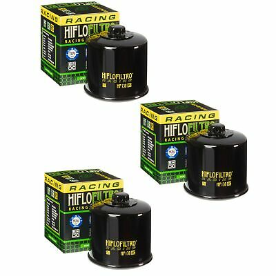 $29.80 • Buy Hiflofiltro Racing HF138RC Oil Filter 3 Pack Aprilia Cagiva Suzuki GSXR600 700