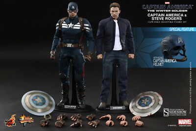 $ CDN925.68 • Buy CAPTAIN AMERICA & STEVE ROGERS Winter Soldier MMS243_HOT TOYS 1:6_902186 SEALED