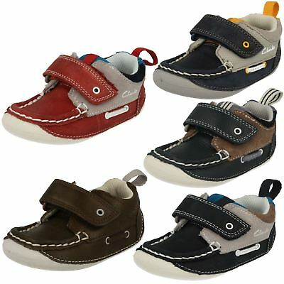 Boys Clarks Leather Casual Cruiser Shoes *Cruiser Deck* • 15£