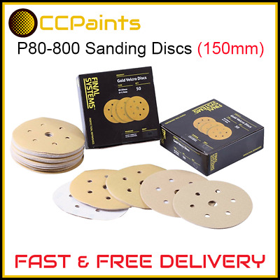 P80-800 Final Systems 150mm Sanding Discs (FAST DISPATCH) • 4.99£