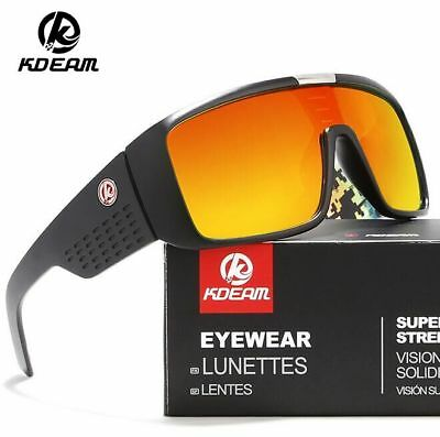 AU13.09 • Buy KDEAM Men Sport Polarized Sunglasses Large Oversize Outdoor Driving Glasses Hot
