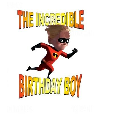 :::the Incredibles The Birthday Boy:::fabric/t-shirt Iron On Transfer • 2.15£