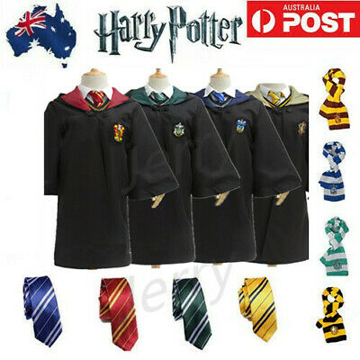 AU7.99 • Buy Book Week Harry Potter Gryffindor Slytherin Adult Kid Robe Cloak Cosplay Costume