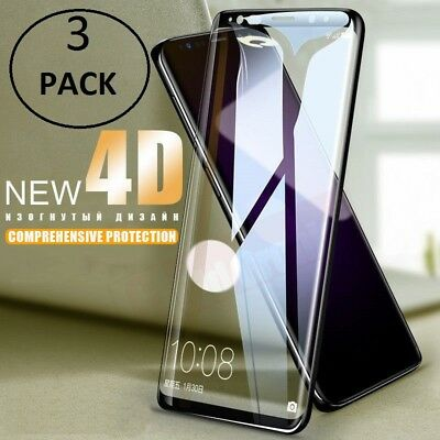 $ CDN2.72 • Buy Samsung Galaxy S9 S8 Plus Note 9 8 4D Full Tempered Glass Screen Protector LOT