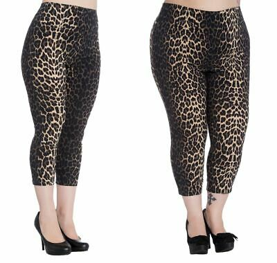 Hell Bunny Leopard Print Panthera Capri Trousers 50's Style • 24.99£