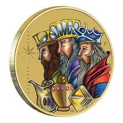 AU10 • Buy 2016 Christmas Three Wise Men Tuvalu $1 One Dollar UNC Coin Perth Mint