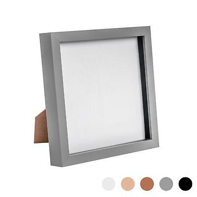 Box Picture Frame Deep 3D Photo Display 8x8 Inch Square Standing Hanging Grey • 8.99£