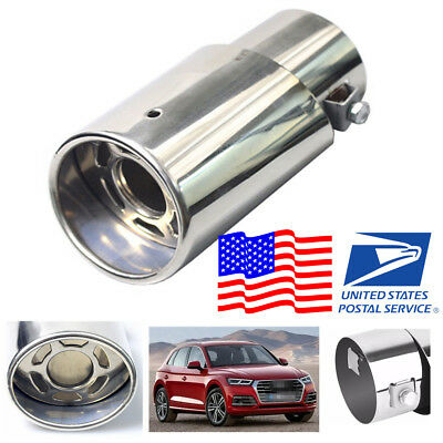 $ CDN17.34 • Buy Anti-corrosive Stainless Steel Silver Look Car Exhaust Tail Pipe Less Than 48 Mm