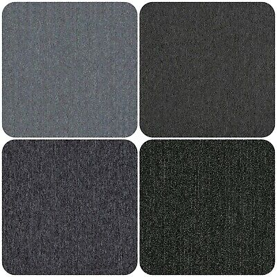 Grey Carpet Tiles 5m2 Box - Domestic Commercial Office Heavy Use Flooring • 34.89£