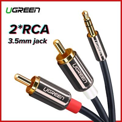 Ugreen RCA Cable 3.5 To 2RCA Audio Cable AUX Cable For DJ Amplifiers Subwoofer • 7.09£