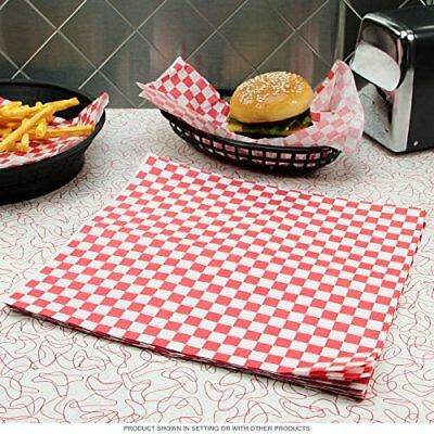 £4 • Buy RED Gingham Greaseproof Paper 25 X 20cm Sheets Burger Chips Food Wrap AntiGrease