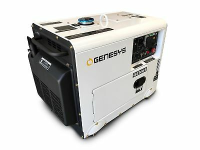 AU1899 • Buy DIESEL GENERATOR 5.8kVA SINGLE PHASE SILENCED *FREE DELIVERY*