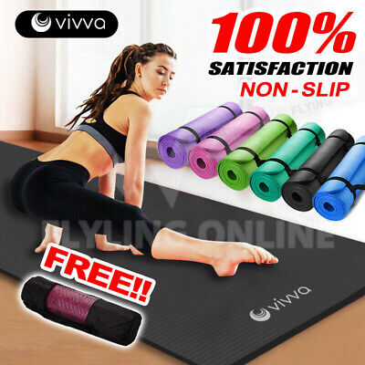 AU47.29 • Buy VIVA 10/15/20MM Thick Yoga Mat Pad Nonslip Fitness Pilate Exercise Gym