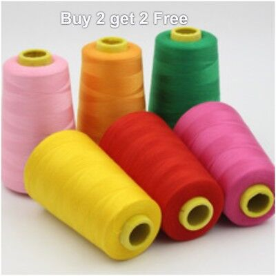Low Price Overlocking Sewing Machine Industrial Polyester Thread 5000 Yrd Cones  • 4.99£