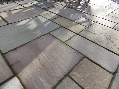 Raj Green 18.9m2 Indian Sandstone Paving Slabs Flags  OVER STOCK CLEARANCE ✔️  • 4.99£