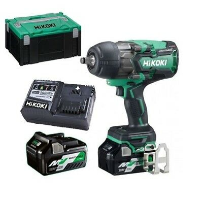 HIKOKI - HITACHI WR36DB 36v Multivolt Impact Wrench 1050nm 2 X 2.5ah Li-ion Batt • 430£