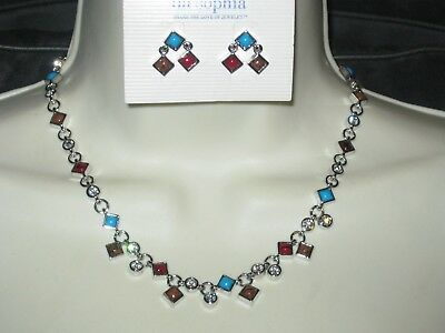 $ CDN50.20 • Buy LOT OF 2: Lia Sophia PHOENIX NECKLACE & EARRINGS SET - GORGEOUS COLORS - RARE