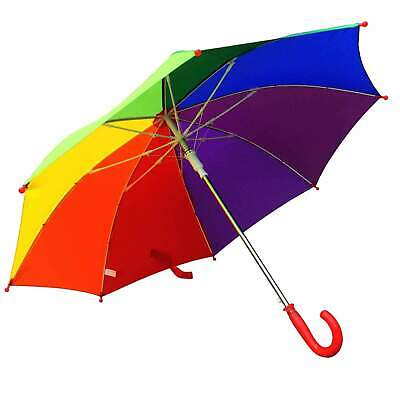 AU22.95 • Buy Willow Tree Childrens Kids Colourful Auto Open Rainbow Umbrella