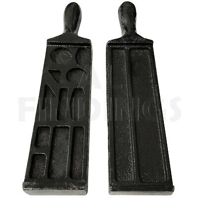 7  Cast Iron Ingot Wire Mould Silver Gold Bar Foundry Melting Casting Metal Tool • 15.99£