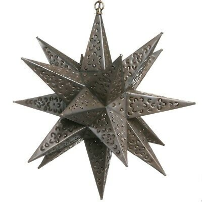 Tin Star Light Pendent - Flower Cut  • 94$